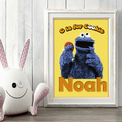Cookie Monster Personalised Poster A5 Print Wall Art Custom Name✔ Fast Delivery✔
