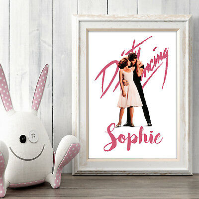 DIRTY DANCING Personalised Poster A5 Print Wall Art Custom Name✔ Fast Delivery✔