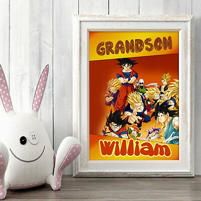 Dragon Ball Personalised Poster A5 Print Wall Art Custom Name ✔ Fast Delivery ✔