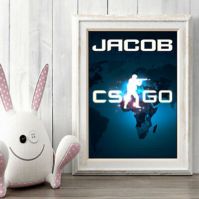 COUNTER STRIKE Personalised Poster A5 Print Wall Art Custom Name✔ Fast Delivery✔