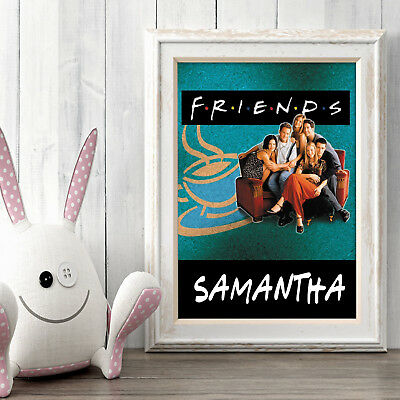 FRIENDS Personalised Poster A5 Print Wall Art Custom Name ✔ Fast Delivery ✔