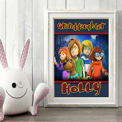 Scooby Doo Personalised Poster A5 Print Wall Art Custom Name ✔ Fast Delivery ✔