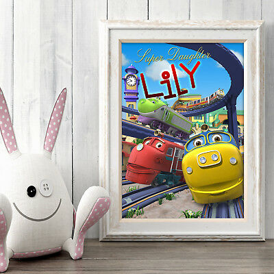 Chuggington Personalised Poster A5 Print Wall Art Custom Name ✔ Fast Delivery ✔
