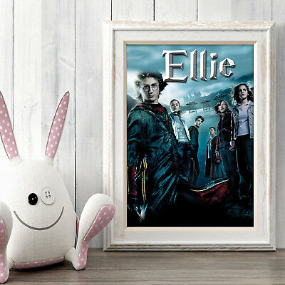 HARRY POTTER Personalised Poster A5 Print Wall Art Custom Name ✔ Fast Delivery ✔