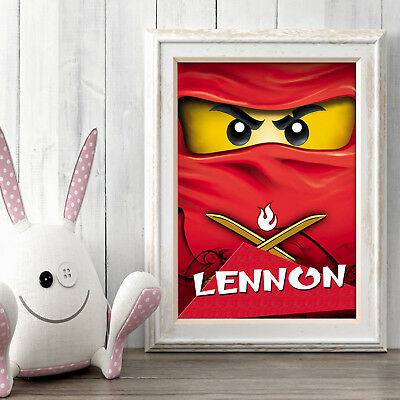 NINJAGO Personalised Poster A5 Print Wall Art Custom Name ✔ Fast Delivery ✔