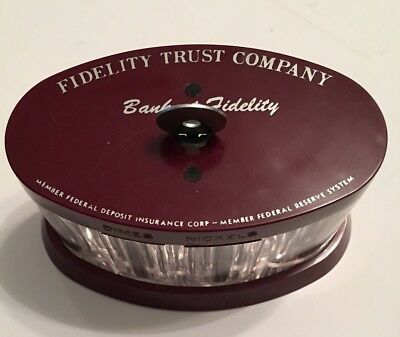 VINTAGE COIN O RAMA COIN BANK THRIFTIMATIC, Fidelity Trust Co, with working key