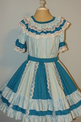 Square Dance Outfit - 2 Blouses, Skirt with Belt