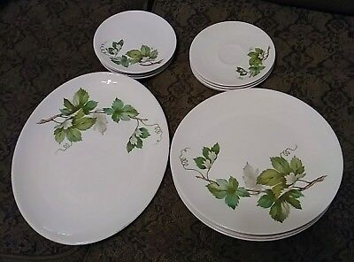 Knowles GRAPEVINE starter or completer kit LOT of 15 with dinner plates