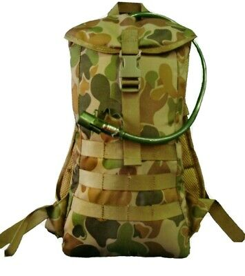 Auscam Hydration Molle Military Backpack #free! 2Lt Wide Mouth Bladder - Tas 4+
