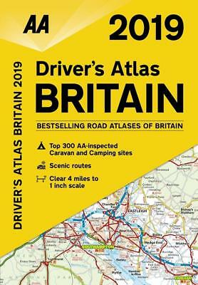 AA Driver's Atlas Map Britain 2019 Latest Edition A5 Glovebox Size (79524)