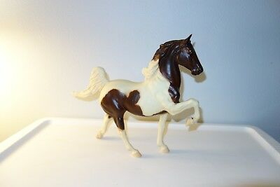 Vintage Breyer Molding Co Brown White Stallion Prancing Horse #24