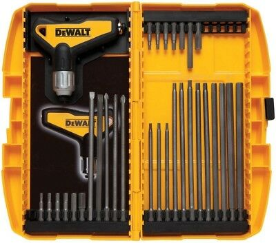 DEWALT Ratcheting T Handle Set 31 Piece Allen Wrench Tool Kit Hex Key Metric SAE