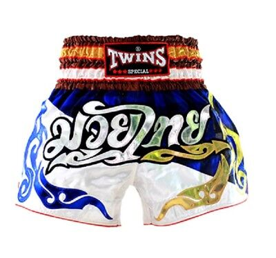 Twins Special Muay Thai Boxing Shorts Scottish Blue