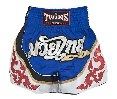 Twins Special Muay Thai Boxing Shorts Blue White