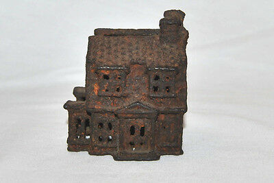 "Antique Cast Iron Mold Victorian House 2 1/2""W x 4""H NICE!!!!"