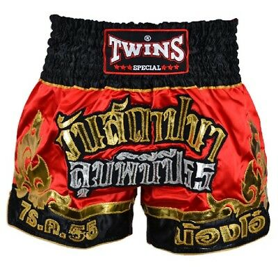 Twins Special Muay Thai Boxing Shorts Red gold