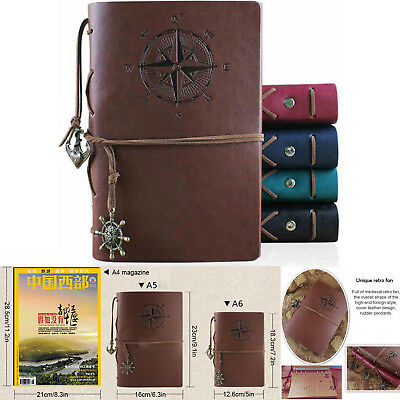 Travel Vintage Classic Retro Horse Leather Journal Notepad Notebook Blank Diary