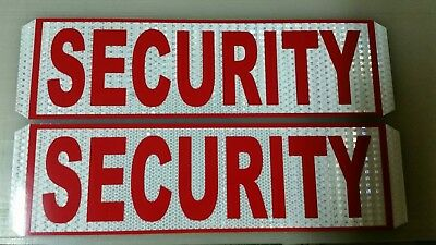 security magnetic door signs reflective white red text and bourder