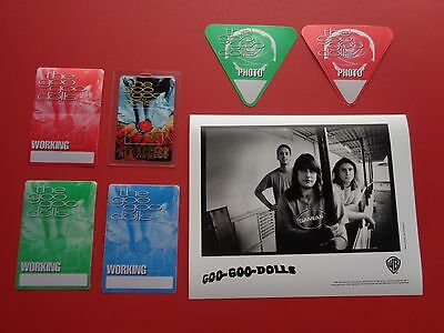 "GOO GOO DOLLS ,1 promo photo,6 ""OTTO"" Backstage passes,RARE Originals"