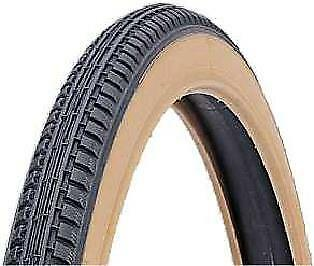 "1x DURO 24"" Wheelchair / bicycle Pneumatic Tyre 24x1-3/8"" Black Gum Wall 4837"