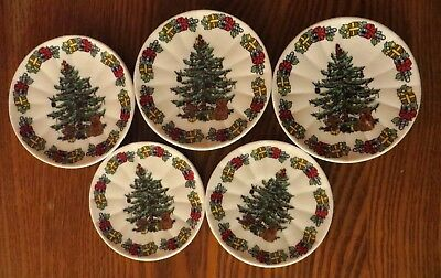 Child's toy play dishes china Christmas tree miniature doll Vintage