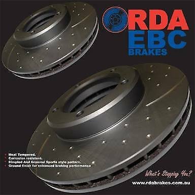 Ford Falcon Ba Bf Fg Front Rear Slotted & Dimpled Disc Rotors & Pads *full Set*