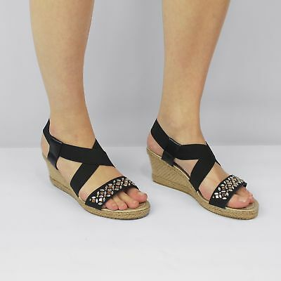Shumo SHALIMAR Ladies Womens Cushioned Open Toe Strappy T Bar Summer Sandals