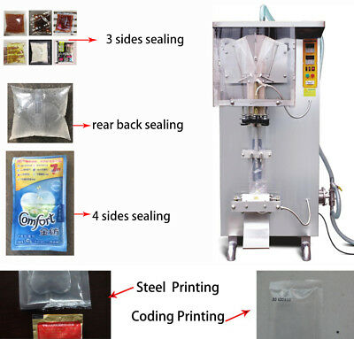 200-1000ml Auto Sachet liquid Fill Seal pack Machine 304 Stainless Steel By Sea