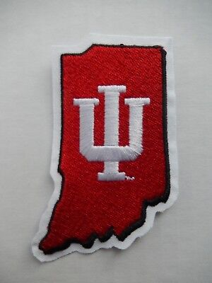 Indiana University State with IU Logo Embroidered Patch New Vintage