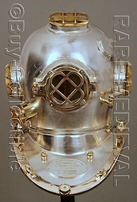 "Morse US Navy Mark V Diving Divers Helmet Copper Brass Full Size 22"" Gift DVS210"