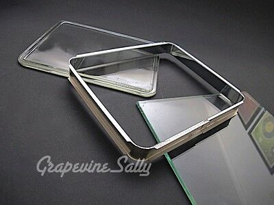 Tappan Vintage Stove Parts Oven Door Window Glass & Inner Chrome Trim Frame