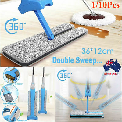 360 Degree Double-Side Flat Mop Hands-Free Washable Mop Home Cleaning Tools Lazy