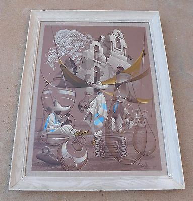 Vintage Print of James Bunnell Serigraph Silkscreen Mexican Pottery Rare