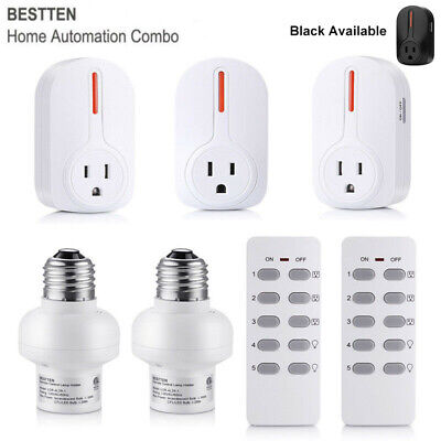 1,4,5 PK Wireless Remote Control Outlet Switch Light Power Socket Switch Plug