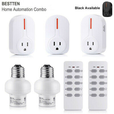4/5 Pack Wireless Remote Control Outlet Light Power Switch Socket Plug, 2 Remote