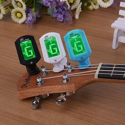 LCD Clip-on Electronic Digital Guitar Tuner for Chromatic Bass Violin Ukulele HP