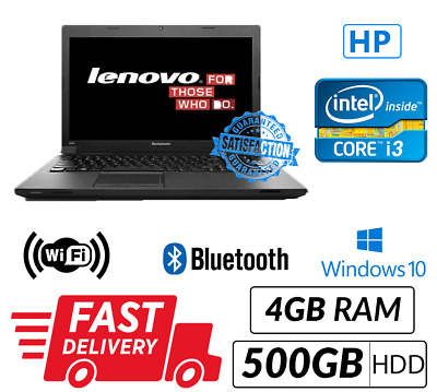 Cheap Windows 10 Laptop Lenovo IntelCore i3 4GB RAM 500GB HDD WiFi Ready USB 3.0