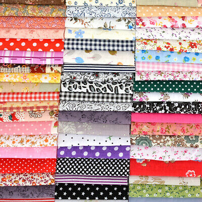 100pcs DIY Crafts Sewing Square Floral Cotton Fabric Patchwork Cloth 10*10cm
