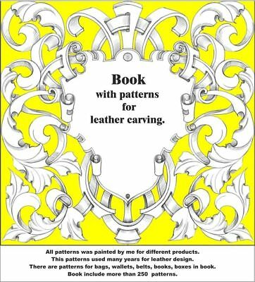 Leather working Carving Punches Stamp Craft Saddle Making Book 250 Patterns