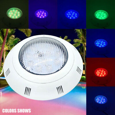 AC12V 18W RGB Swimming LED Pool Lights underwater lights IP68 Waterproof+Control