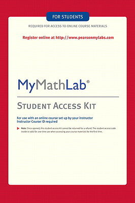 MyMathLab Student Access Kit Code. READ FULL DESCRIPTION BEFORE BUYING FROM US!!