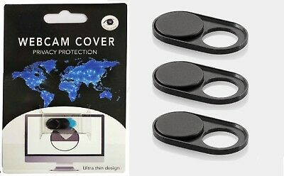 3x Webcam Extra Thin Privacy Covers Laptop/Mobile/Tablet - Internet Security