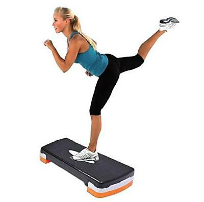 Aerobic Step Up Adjustable Exercise Stepper Gym Yoga Board Home Fitness Cardio
