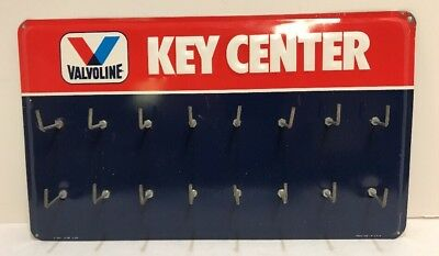 Vintage Valvoline Gas Oil Key Center Metal Sign