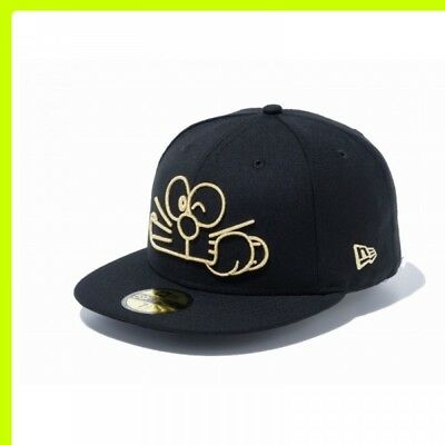 NEWERA 59FIFTY Doraemon Face Cap Black x Gold New era Limited Color Japan