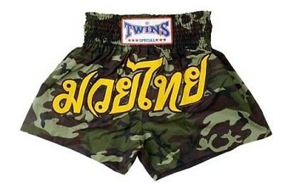 Twins Special Muay Thai Boxing Shorts Army Green