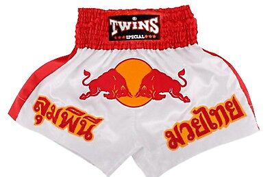 Twins Special Muay Thai Boxing Shorts Red Bull