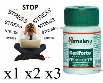HIMALAYA Herbals Geriforte Anti-Stress Supports Cellular Regeneration - 40 Tabs