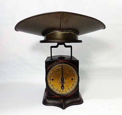 Late 19Th C 1892 Universal Family Scale, W/brass Face/cast Iron Body/tin Scoop