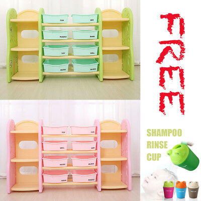 Kids Toy Box Storage Cabinet containers Children Clothes Organiser